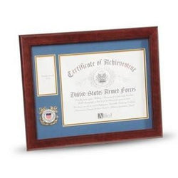 U.S. Coast Guard Medallion Certificate and Medal Frame