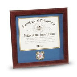 US Coast Guard Medallion 8 Inch by 10 Inch Certificate Frame Easel and Wall Mounting