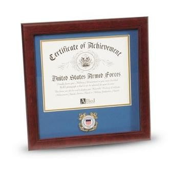 US Coast Guard Medallion 8 Inch by 10 Inch Certificate Frame