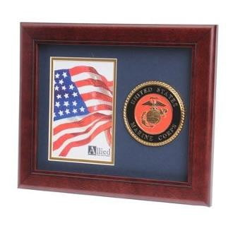 U.S. Marine Corps Medallion Portrait Picture Frame 8-Inches by 10-Inches