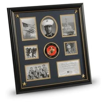 U.S. Marine Corps Medallion,Picture Collage Frame with Stars