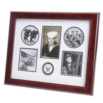 U.S. Navy Medallion 5 Picture Collage Frame