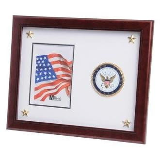 U.S. Navy Medallion Picture Frame with Stars Large U.S. Navy Medallion