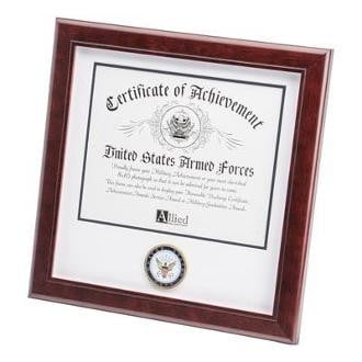 U.S. Navy Medallion Certificate Frame 8-Inches by 10-Inches
