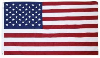 American Flag 5ft x 9.5ft Cotton by Valley Forge.