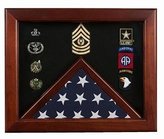 Master Sergeant Flag Display Cases - Master Sergeant Gift.