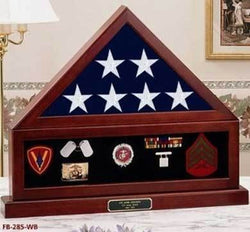 Flags Connections Combination Flag Display Case Shadow Box, Flag medal pedestal