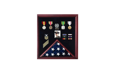 Flag Display Case Combination For Medals Photos....