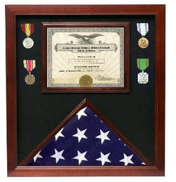Police Medal and Flag Display Case, Flag Certificate