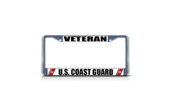 Metal Insert License Plate Frame Veteran U.S. Coast Guard Navy