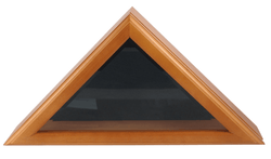 Officers Flag and Display Case, 3 by 5-Feet, Oak