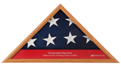 "Wood Flag Display Case Box, 16"" x 22.5"", Light Honey"