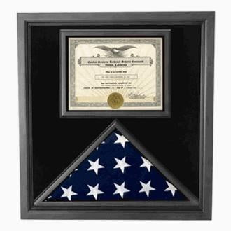 Retirement Flag Display Case - Military Retirement Gift