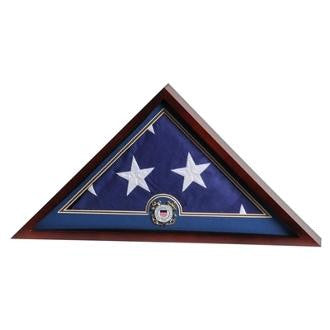 Flag Display Case with Coast Guard Medallion