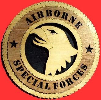 Airborne Wall Tributes United States Army emblem stands