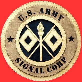 Signal Corps Wall Tributes Signal Corps Wall Plaque is Completely handmade