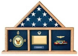 Flags Connections USAF Shadow Box, Flag Medal Case, Master Sergeant Shadow Box