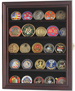 LOCKABLE 30 Military Challenge Coin, Sport Competition Coin, Casino Chip Display Case