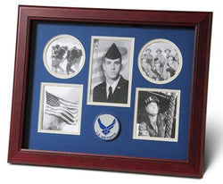 Flag Connections Aim High Air Force Medallion 5 Picture Collage Frame.