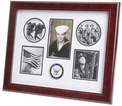 Flag Connections U.S. Navy Medallion 5 Picture Collage Frame