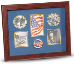 Flag Connections American Flag Medallion 5-Picture Collage Frame.