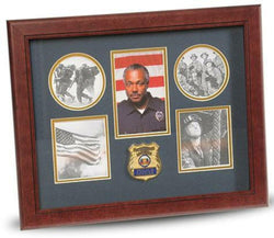 Flag Connections Police Department Medallion 5-Picture Collage Frame