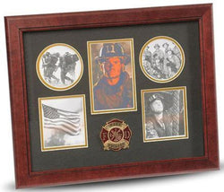Flag Connections Firefighter Medallion 5-Picture Collage Frame