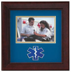 Flag Connections Emergency Medical Services Horizontal Picture Frame.
