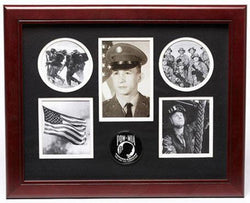 Flag Connections POW/MIA Medallion 5 Picture Collage Frame.