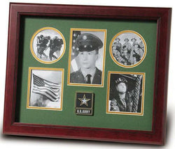 Flag Connections Go Army Medallion 5-Picture Collage Frame.