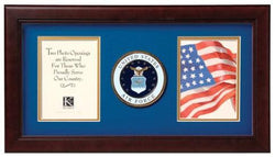 Flag Connections United States Air Force Dual Picture Frame