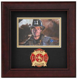 Flag Connections Fire Fighter Horizontal Picture Frame.