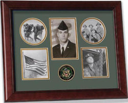 Flag Connections United States Army Medallion 5 Picture Collage Frame with Stars