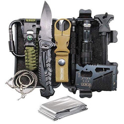 Father's Day Birthday Gift for Him Men Dad Boyfriend, 11-in-1 Survival Gear Kits