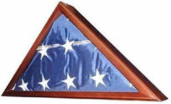 Veteran Flag Display Case -Walnut with glass front