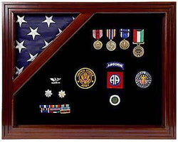 Military Award Shadow Box with Display Case for 5x9.5ft Flag