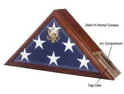 Flag Connections Urn and Flag Case, funeral Flag Case