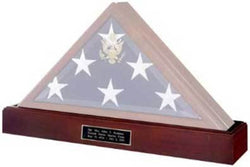 Flag Connections Military Flag and Medal Display Case Shadow Box