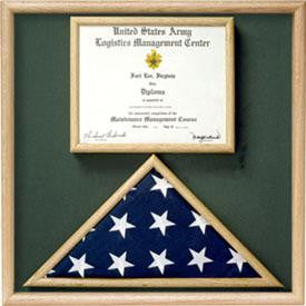 Flag and Certificate Display Case from Original Uniform Fabrics