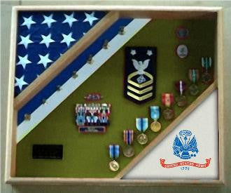Army shadow box, Army frame...