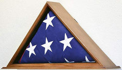 Flag Display Case for 5 x 9.5 Burial/Funeral/Casket/Veterans Military Flag box