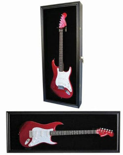 Guitar Display Case Cabinet Wall Hanger for Fender or Electric Guitars w/Uv Protection