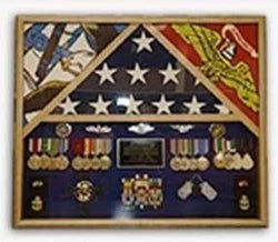 Flags Connections Flag Shadow case, 3 Flag Military Shadow Box