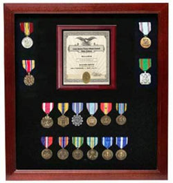Flags Connections Military Certificate Medal Display Case