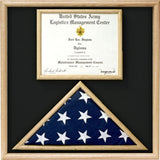 US Marine Corp Flag and Certificate Display Case/ award case.