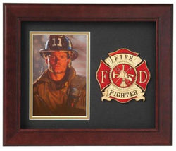 Flag Connections Fire Fighter Vertical Picture Frame.