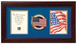 Flag Connections Patriotic Dual Picture Frame