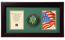 Flag Connections United States Army Dual Picture Frame