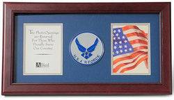 Flag Connections Aim High Air Force Medallion Double Picture Frame, 4 by 6-Inch