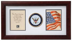 Flag Connections United States Navy Dual Picture Frame